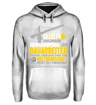 Bauarbeiter Bier - T-Shirt