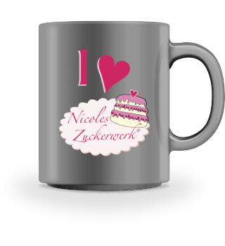 I Love Nicoles Zuckerwerk - Fan Tasse