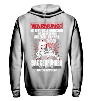 Baustelle Warnung Baggerführer