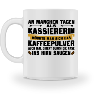 Kassiererin Kaffee Tasse
