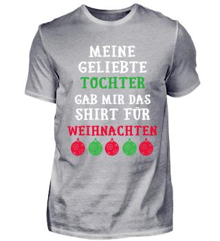 Tochter - Vater Mutter Weihnachten Shirt