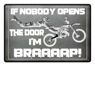 I'm BRAAAP - motocross doormat