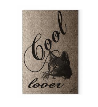 Canvas: Cool Cat Lover / Katzenfreund