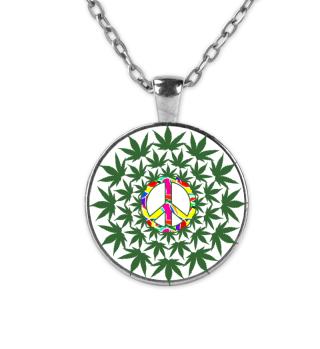 Flower Power Peace Cannabis Mandala