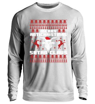 Merry Anti Christmas Satan Santa Claus Weihnachten Antichrist Geschenk Gift Xmas