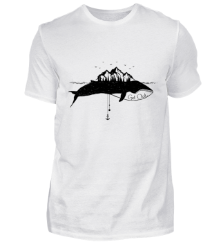GET OUT: Whale Lighthouse Ocean T-Shirt