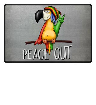 Reggae Parrot peace out Papagei Geschenk