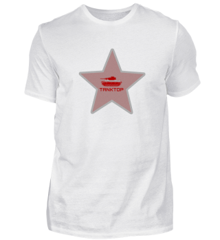 Tanktop - red star with tank