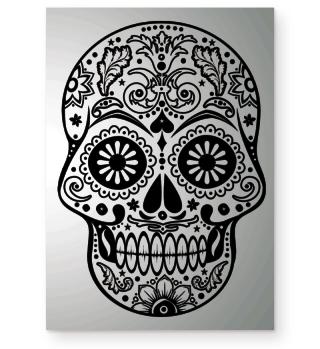Gothic Ornaments Sugar Skull POSTER