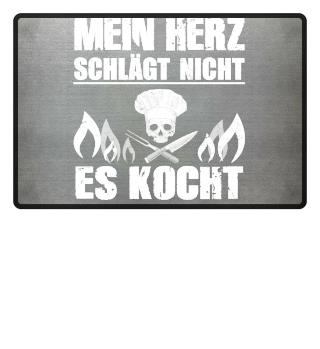 Koch-Shirt | MEIN HERZ KOCHT (Ideales Geschenk)
