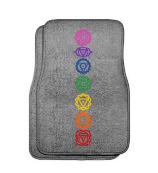 7 Chakra Symbole - Farben - Auto 1