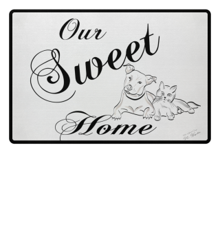 Doormat: Our Sweet Home - Pats Dog & Cat