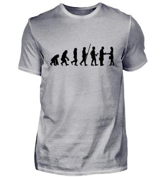 Evolution zum Hallo - Tshirt