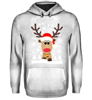 Lustiges Rentier Elch Hässlicher Weihnachtspullover