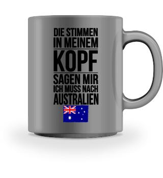 Tasse mit Spruch Australien Geschenk