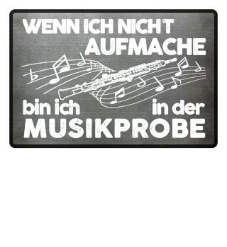 Fußmatte - Oboe wenn ich nicht ...