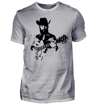 Böser Cowboy mit Gitarre