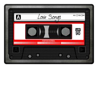 MIXTAPE - Love Songs I Fußmatte