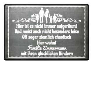 3 Glückliche Kinder + Familie - personalisierbar
