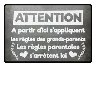 D'ici s'appliquent les règles des grands-parents - cadeau