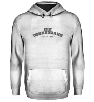 Die Denkedrans Hoodie Logo`99 grey print