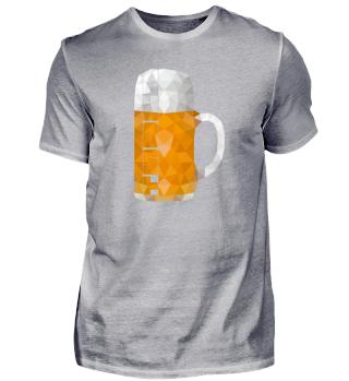 Low Polygon Bier Maß Krug Prost
