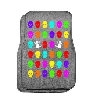 Skulls And Hands - neon colors I Auto