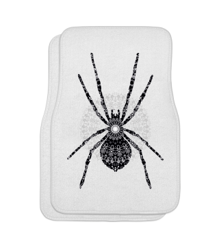 Big SPIDER Mandala black white gray 3