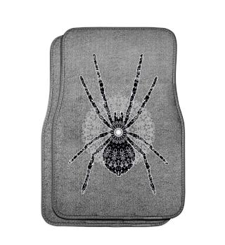 Big SPIDER Mandala black white gray 3