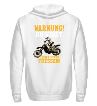 Motocross Warnung Staub fressen