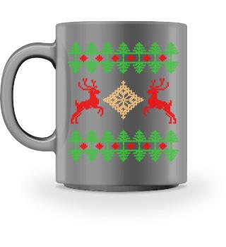 Ugly Christmas Mug pattern realstitchlook