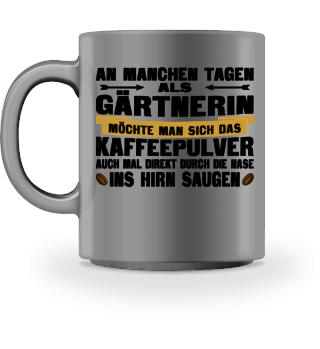 Gärtnerin Kaffee Tasse