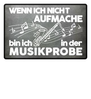 Fußmatte - Saxophon Musikprobe
